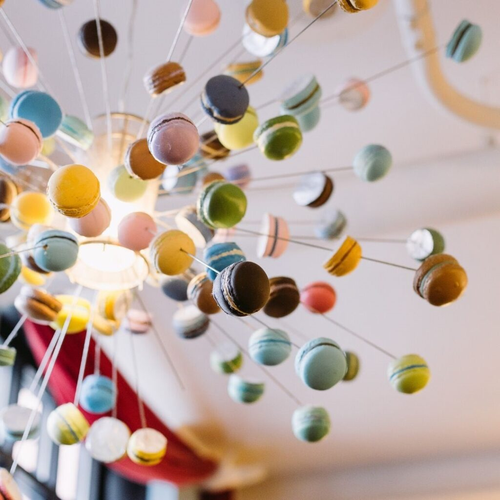 French Macaron Chandelier
