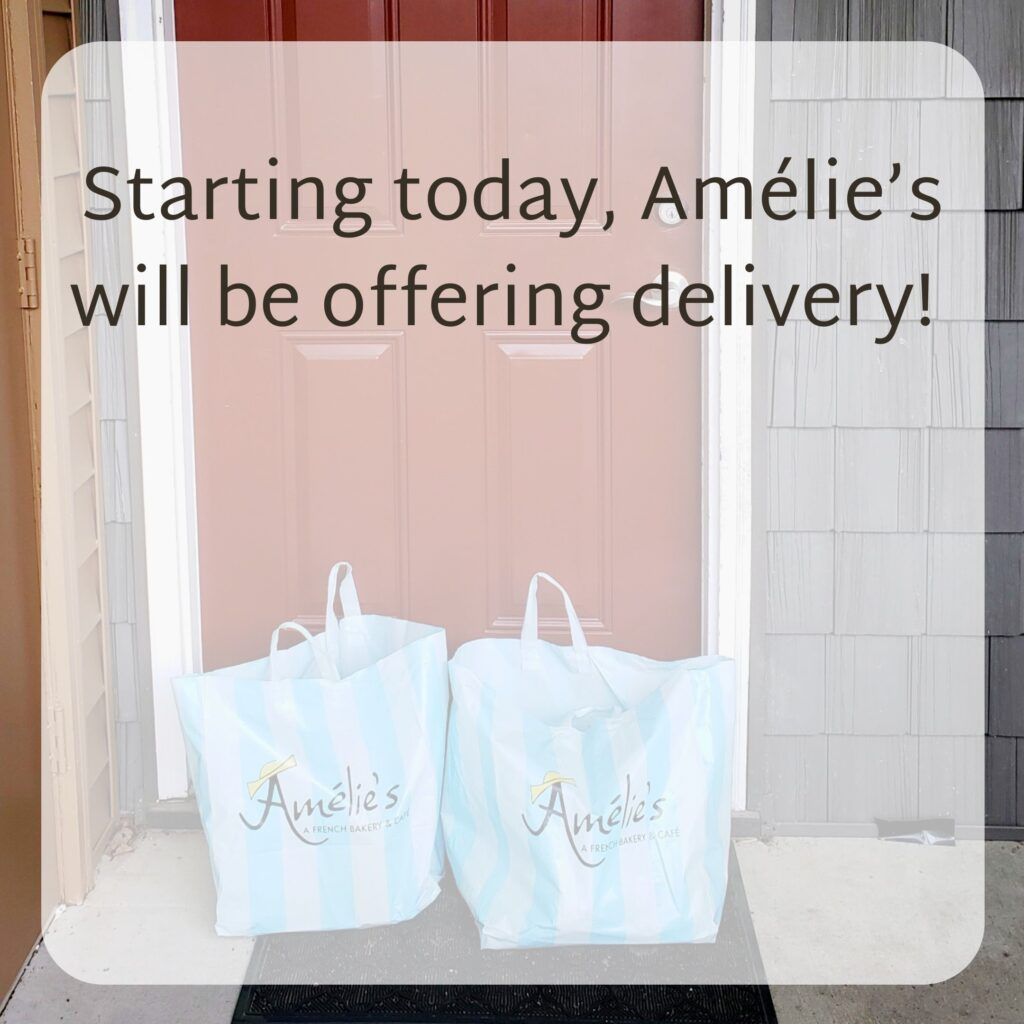 Amelie's offering delivery