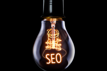 Image of light bulb with SEO written inside