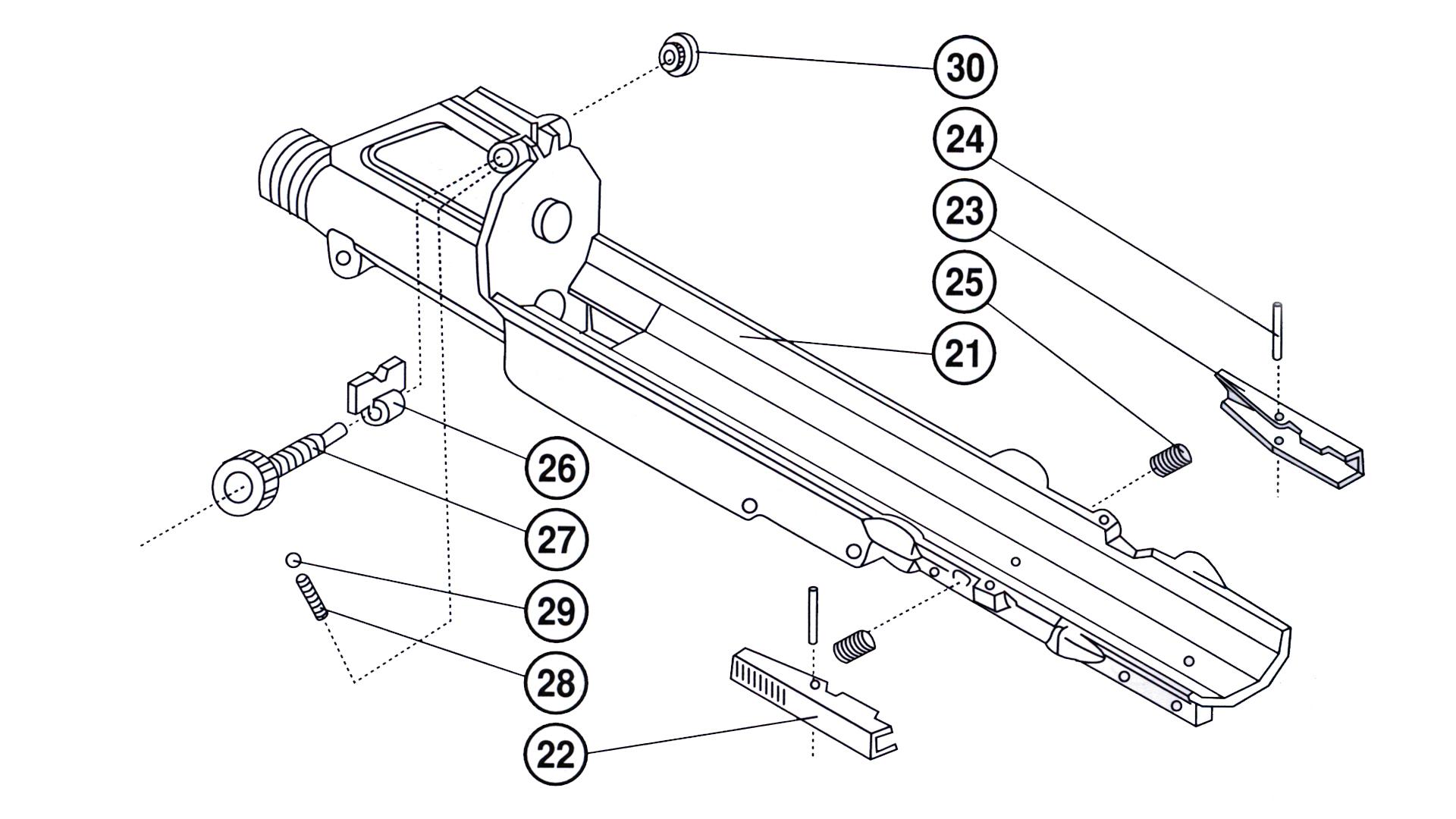 22LR M110 Upper Receiver Parts Breakdown