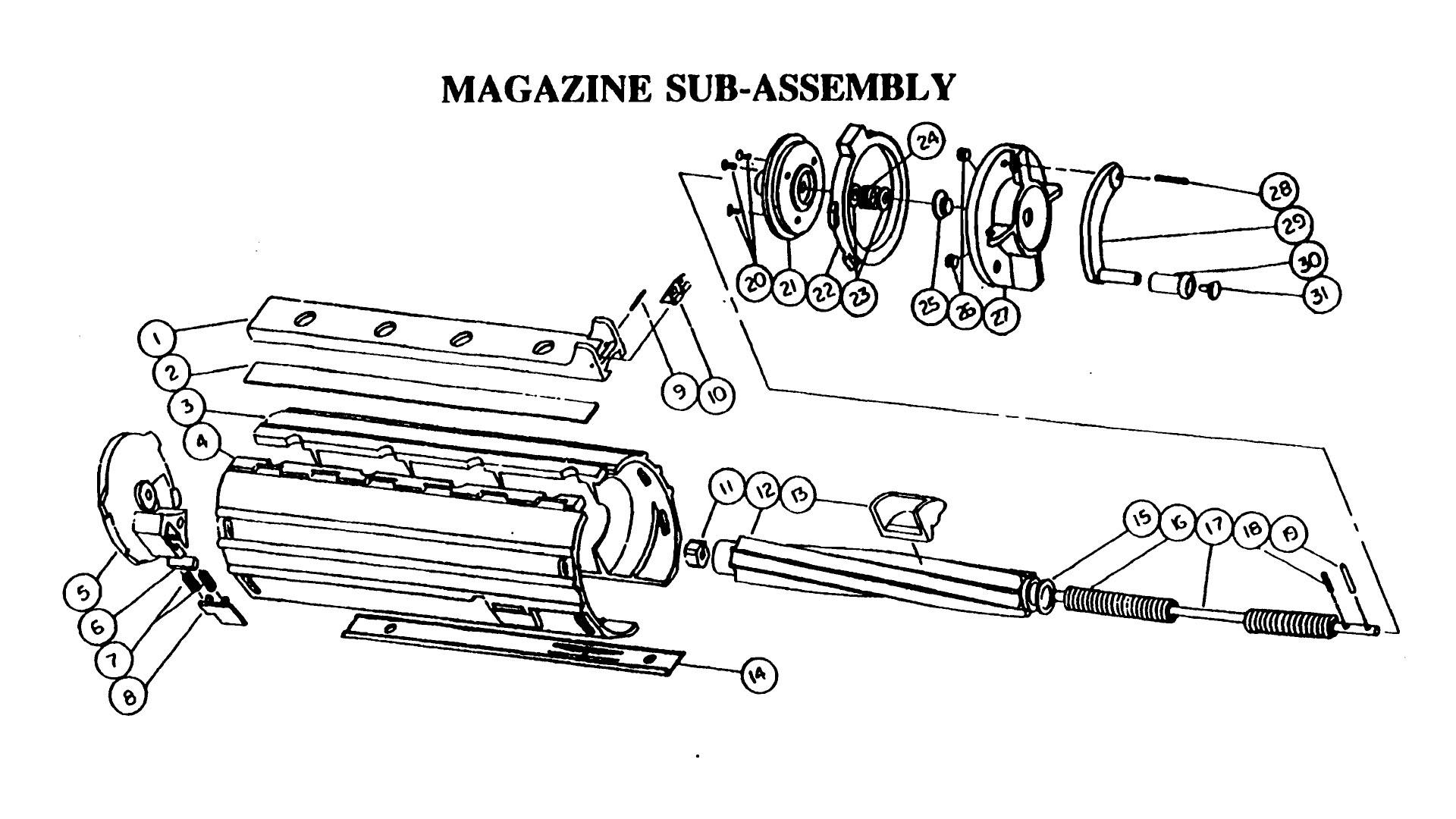 M-806 50Rd Magazine Breakdown