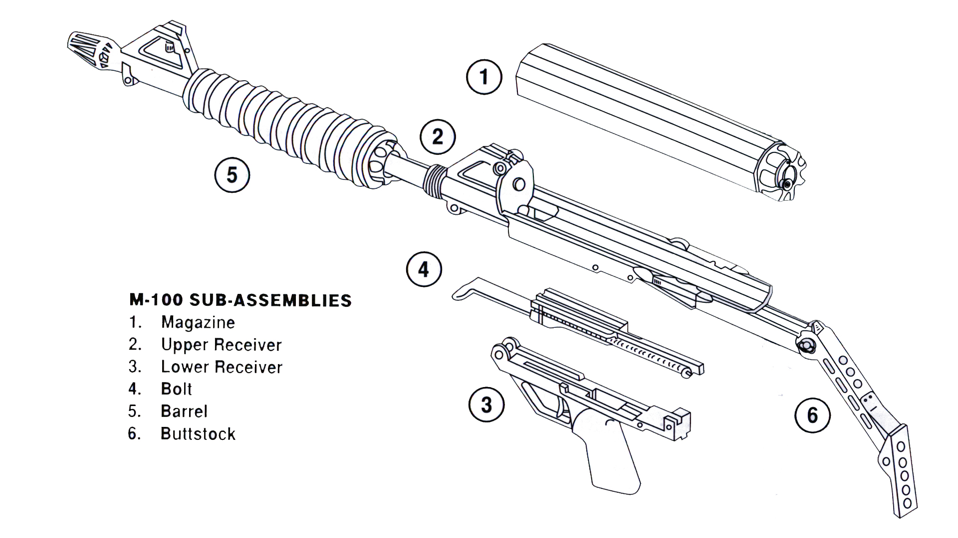 M100 Sub Assembly Breakdown