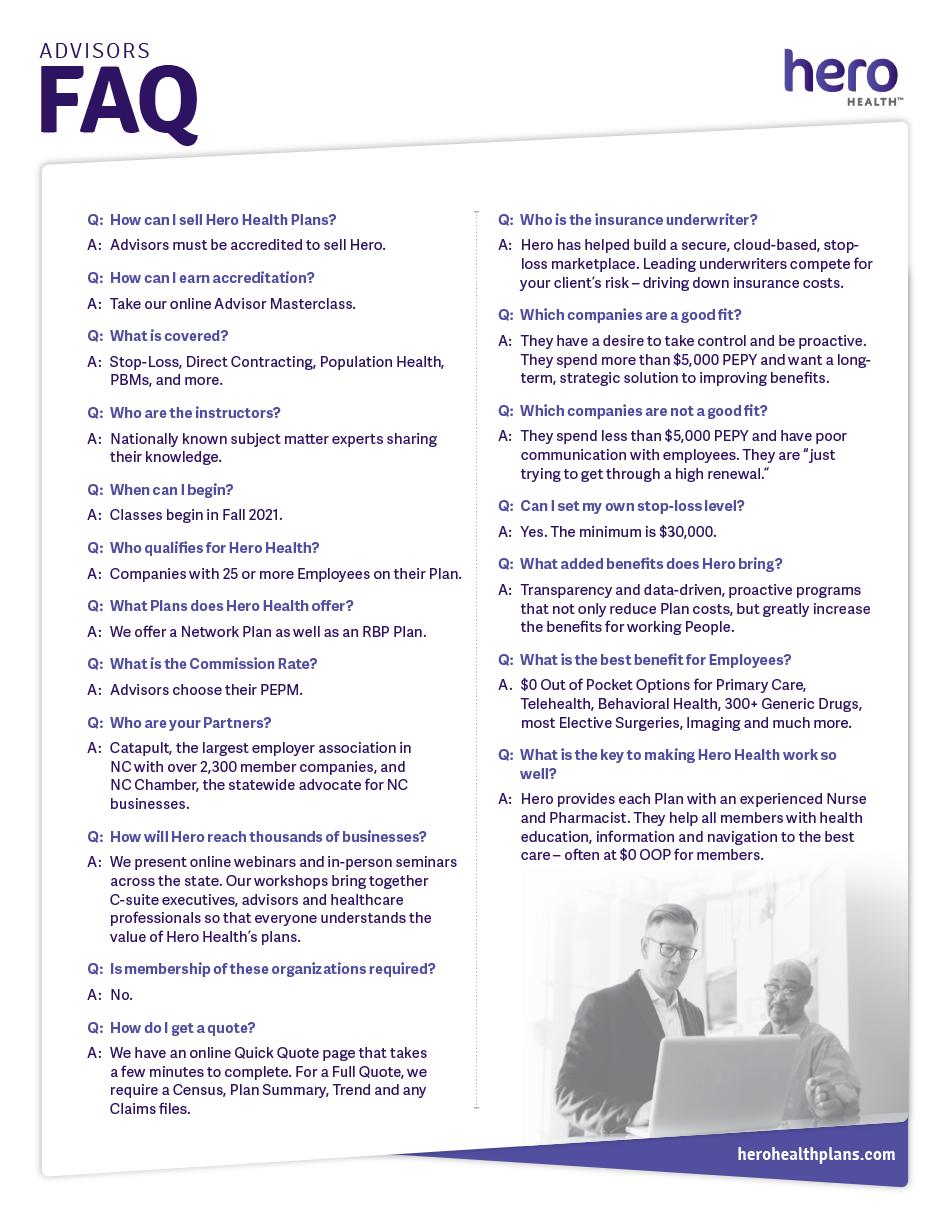 FAQs : Advisors