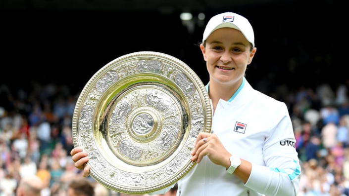 Barty lives out her Wimbledon dream