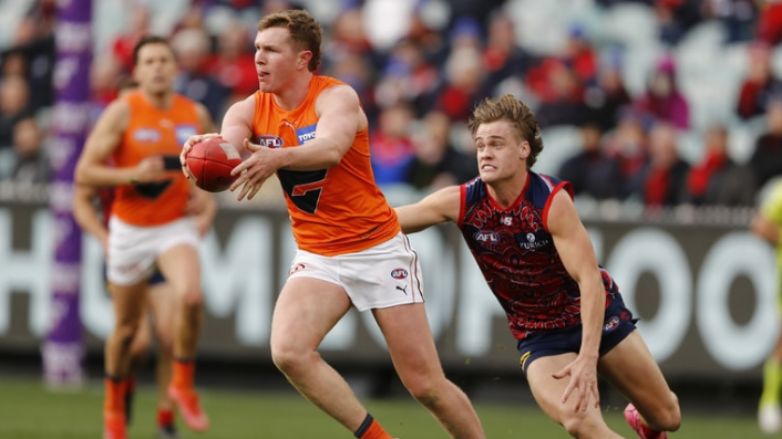 Melbourne left vulnerable as GWS Giants displace the premiers in the eight