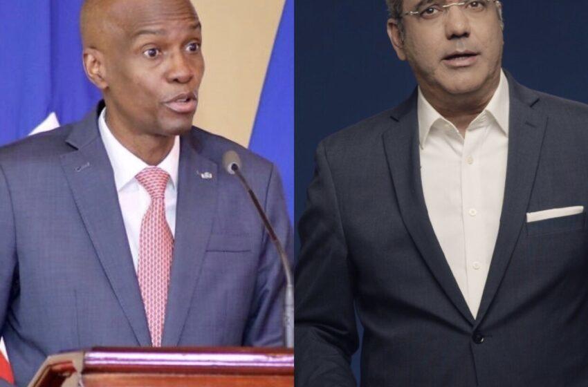 Jovenel Moïse s'entretient avec le nouveau président dominicain