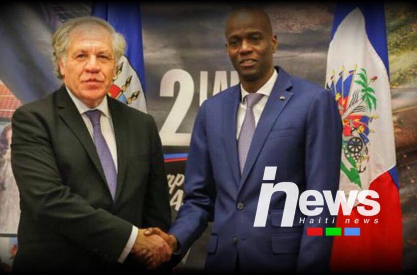 Sekretè jeneral OEA fè konnen prezidan Jovenel Moïse ap kite pouvwa 7 fevriye 2022