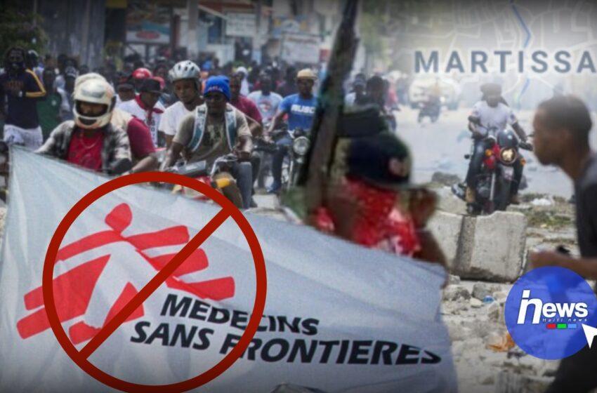 Médecins sans frontières   suspend temporairement ses activités à Martissant