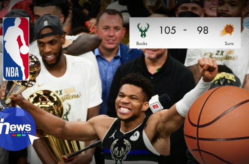 NBA : Milwaukee Bucks remporte une deuxième finale 50 ans après