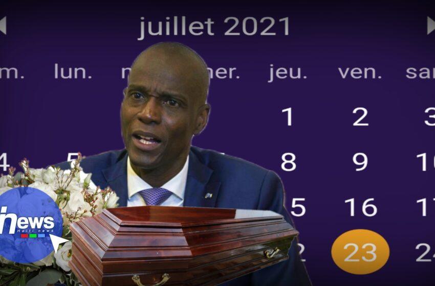 Les Funérailles du président Jovenel Moïse sont prévues pour le 23 juillet 2021
