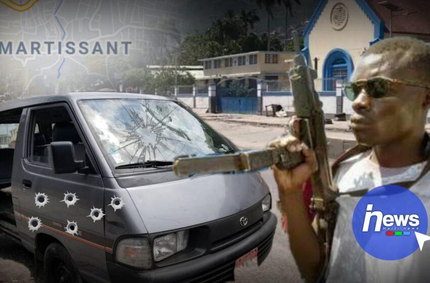 Un autobus a été la cible de bandits armés à Martissant dans l'entrée Sud de Port-au-Prince