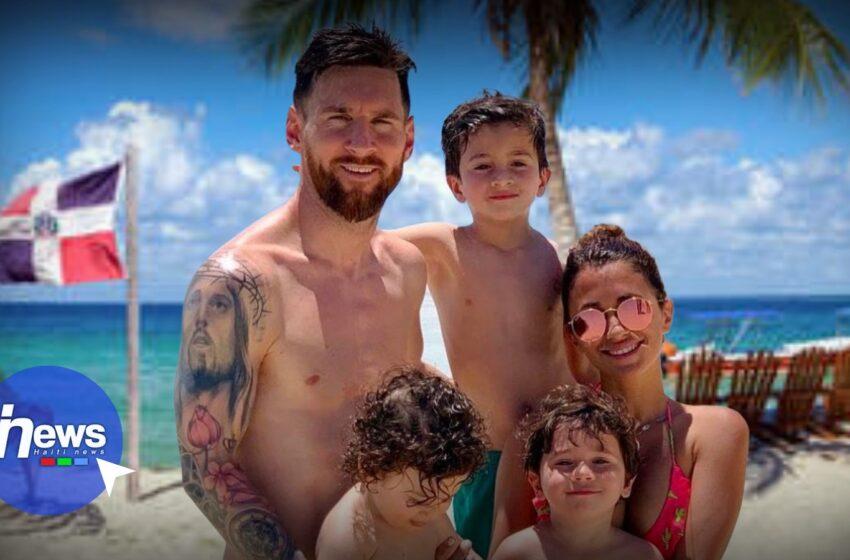 Lionel Messi et sa famille en vacances en République Dominicaine