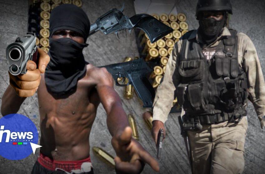 Croix-des-Bouquets: Deux présumés bandits stoppés dans des échanges de tirs avec la PNH