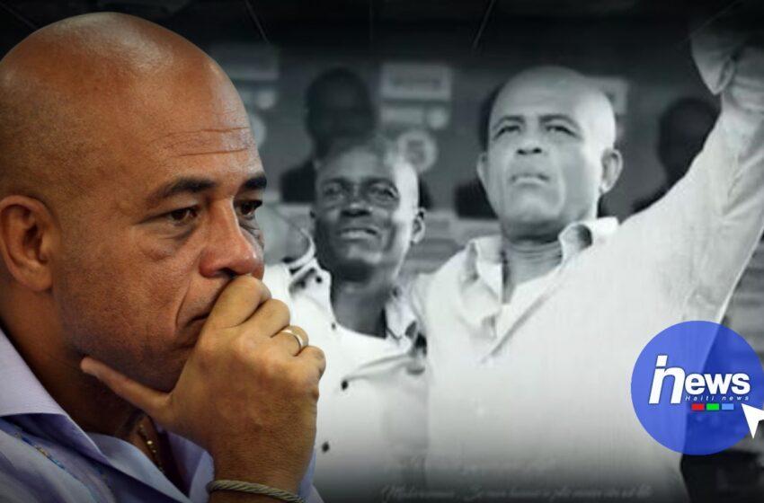 L'ancien président Michel Martelly rend hommage à Jovenel Moïse