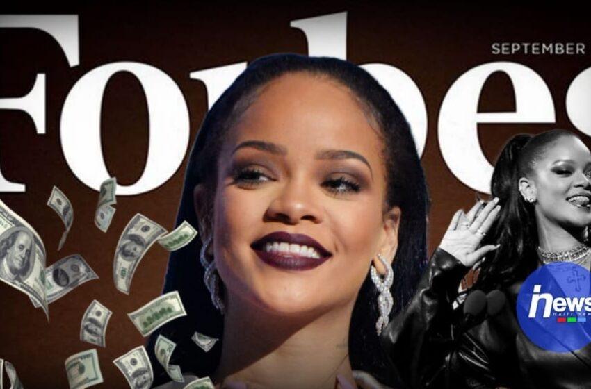 La chanteuse Rihanna rentre dans la liste des milliardaires selon le magazine Forbes