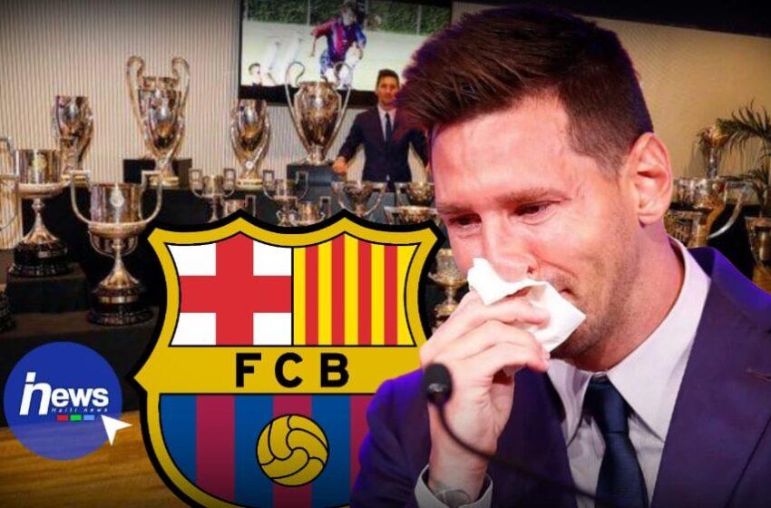 Lionel Messi a fait ses adieux au FC Barcelone