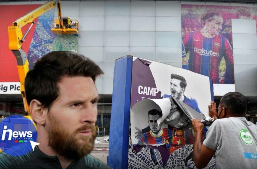 Le visage de Lionel Messi vient d'être effacé du Camp Nou