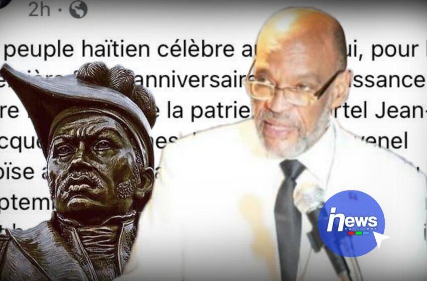 Ariel Henry lance un appel à la reconciliation