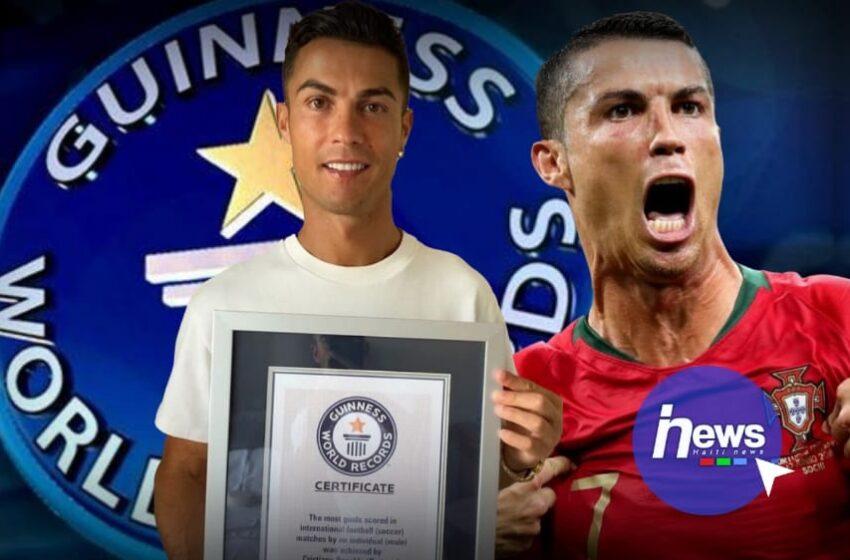 Cristiano entre dans le livre Guinness des records
