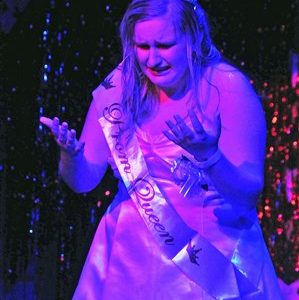 """Rachel Andrews stars as Carrie White in """"Carrie:The Musical."""""""