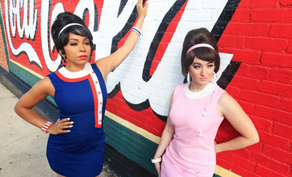 Alexis Sims and Galen Crawley in Beehive: The 60's Musical at Flat Rock Playhouse Photo by Scott Treadway, Treadshots