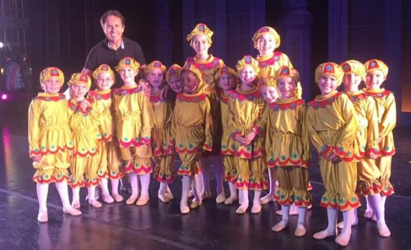 """Artistic Director Carlos Agudelo and the Jesters in """"The Litttle Mermaid."""" Photo courtesy of Ballet Spartanburg and Kim Cantrell Inabinet"""