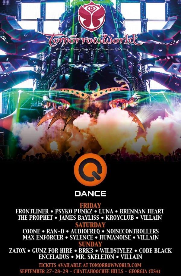 Q-Dance reveals TomorrowWorld Lineup!