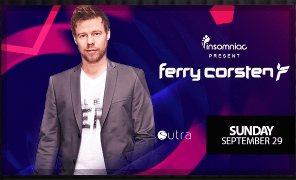 WIN TICKETS TO FERRY CORSTEN AT SUTRA ON 9/29!