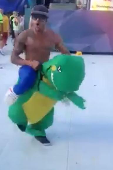 A Raving Dinosaur at Stereosonic Festival