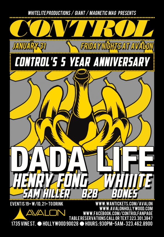 CONTROL at Avalon Hollywood Celebrates Five Years with Dada Life