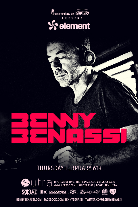WIN TICKETS: Benny Benassi at Sutra