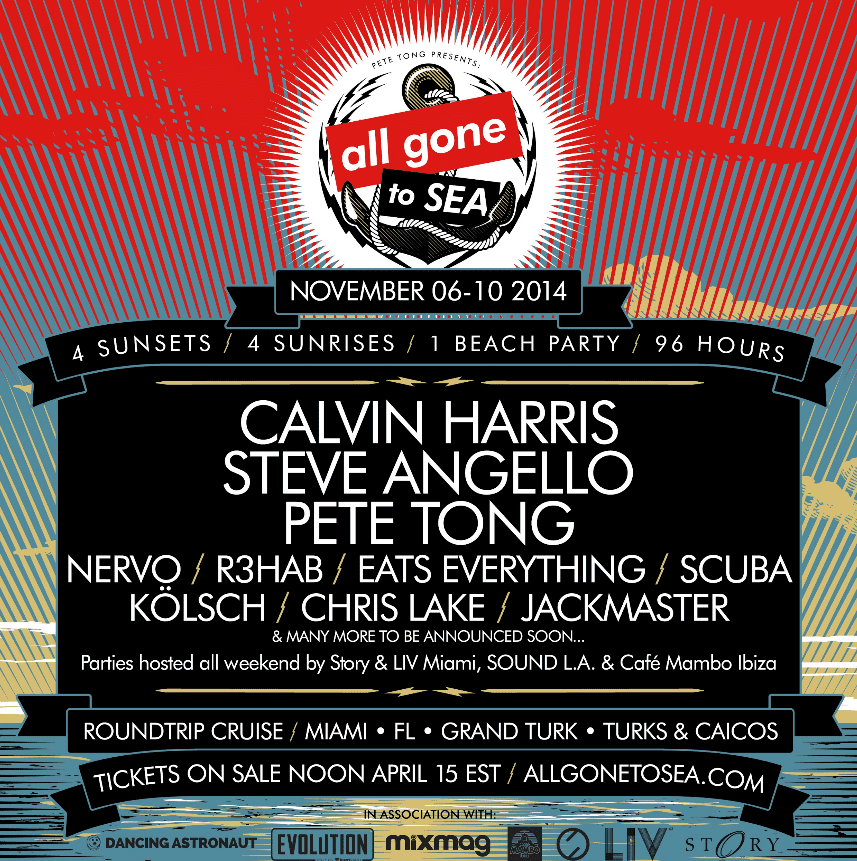 Pete Tong Charters All Gone To Sea Cruise November 6-10
