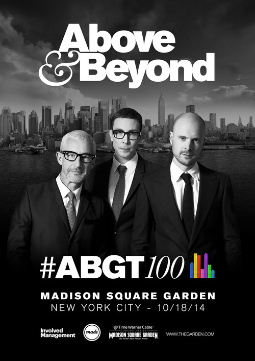 Above & Beyond Announce ABGT100 at Madison Square Garden Saturday, October 18