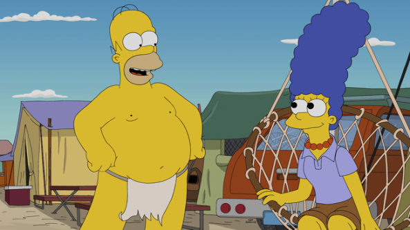 The Simpsons Head to Black Rock City for BURNING MAN