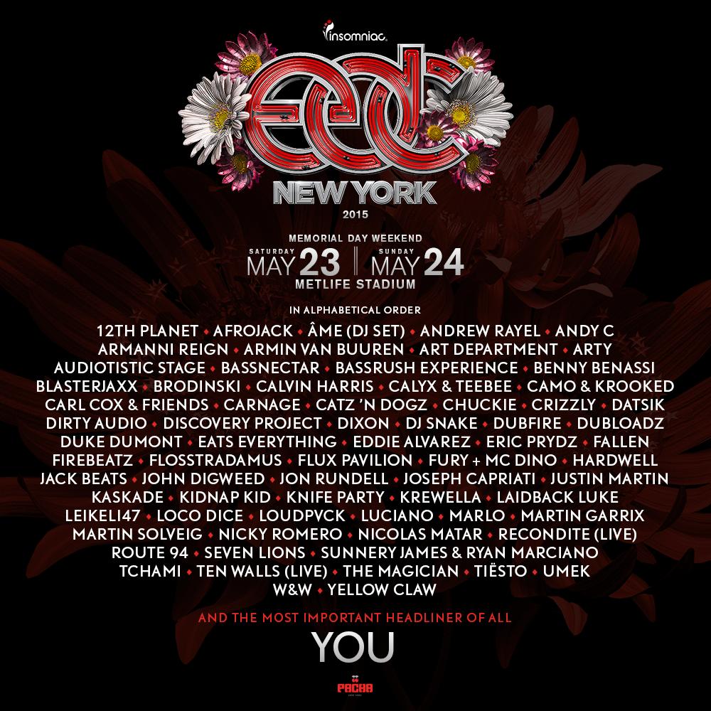 EDC NY Lineup