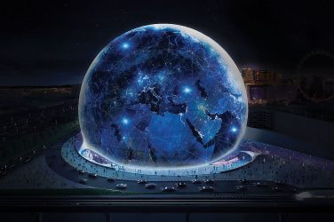 "Futuristic Venue In Las Vegas, ""MSG Sphere"" Starting To Take Shape"