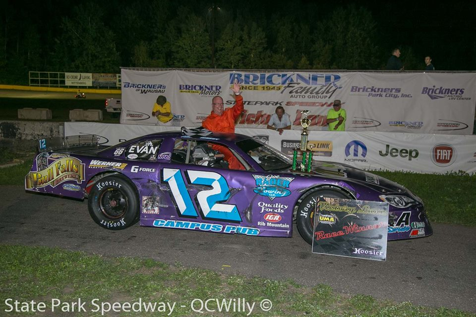 Mackesy stays out of trouble, back in victory lane at State Park Speedway