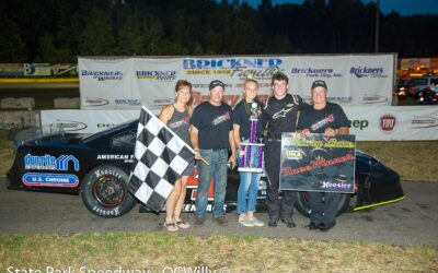 Fenhaus Checks Out On Field for Super Late Model Win at SPS