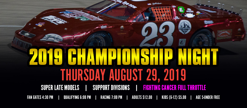 It's Season Championship Night – Here's the Info