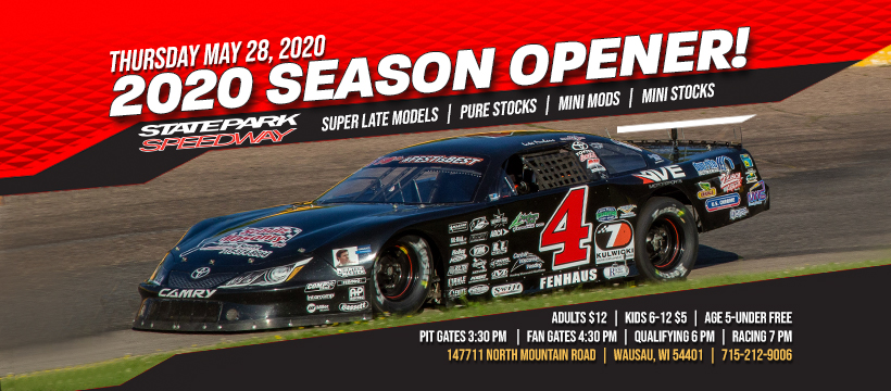 State Park Speedway Opener Set for May 28th