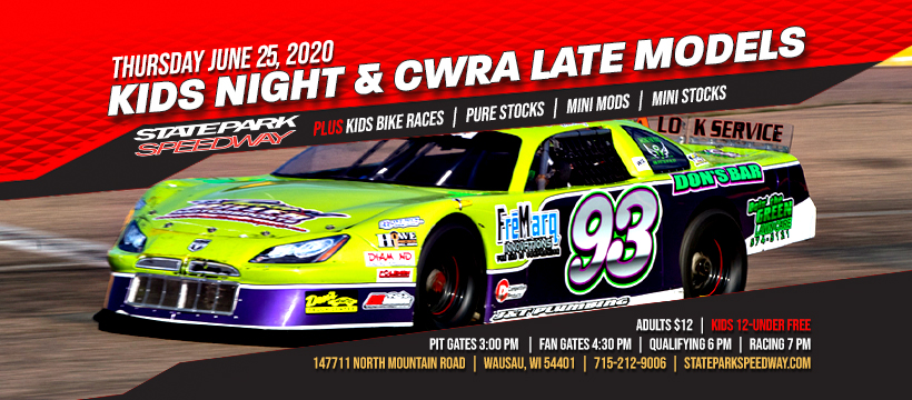 CWRA Late Models, Kids Night & Bike Races this Thursday
