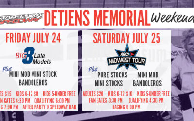 ARCA Midwest Tour and Big 8 Highlight Detjens Memorial Weekend