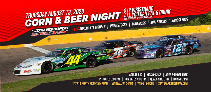 Corn Night this Thursday at State Park Speedway