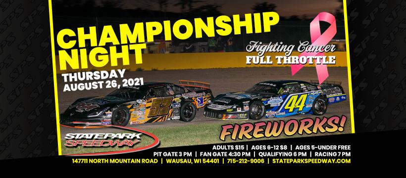 Fighting Cancer Full Throttle Championship Night & Ladies' Night this Thursday