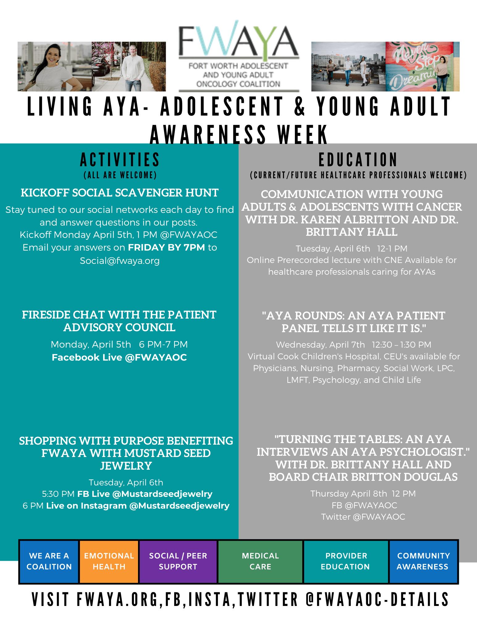 AYA Week Actvities Flyer p1 (1)