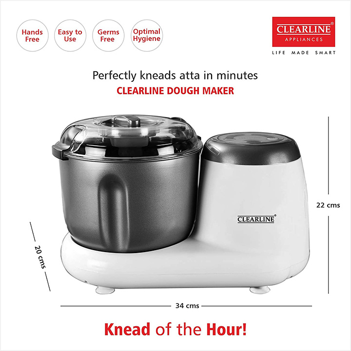 clearline appliances 3.5 l dough kneader