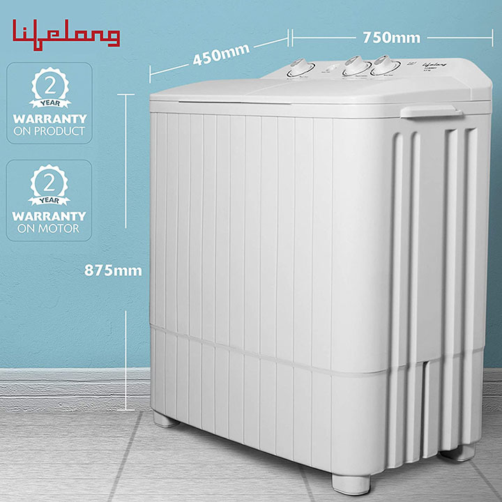 lifelong 6.5 kg semi-automatic top loading washing machine