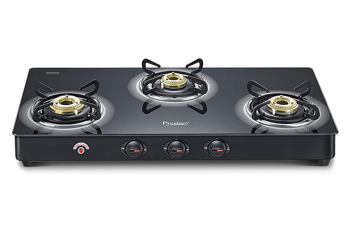 prestige royale plus schott glass 3 burner gas stove