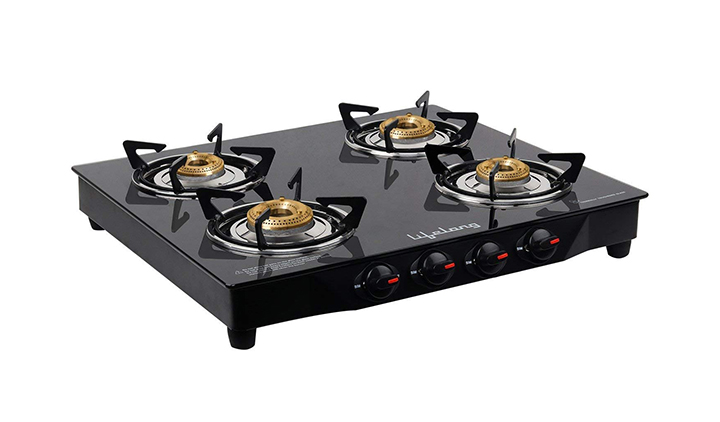 lifelong glass top gas stove 4 burner gas stove