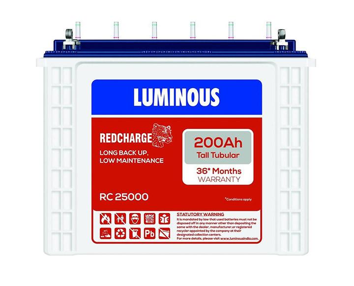 luminous rc 25000 battery